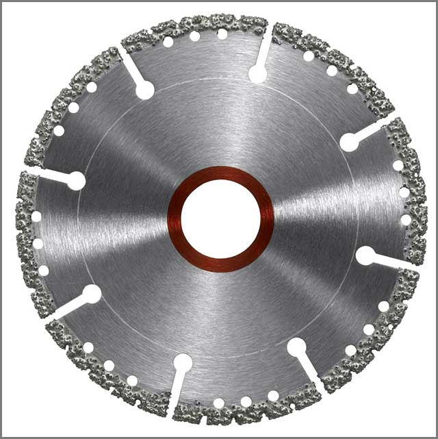 Diamond saw blade with many holes