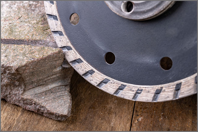 Sintered Saw Blade Cutting A Stone
