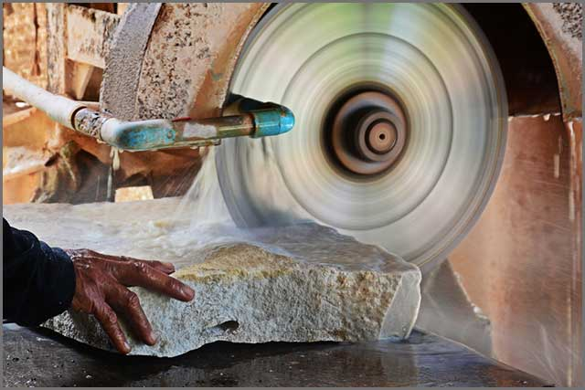 Another image of cutting of stone