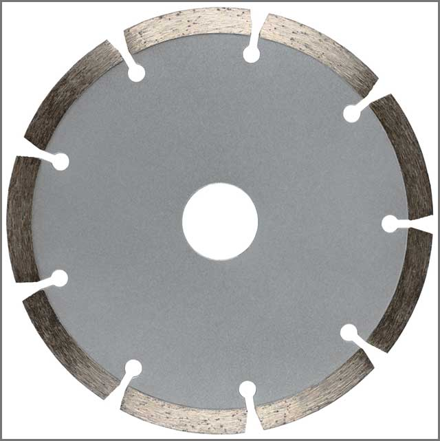 Image Of A Segmented Diamond Saw Blade
