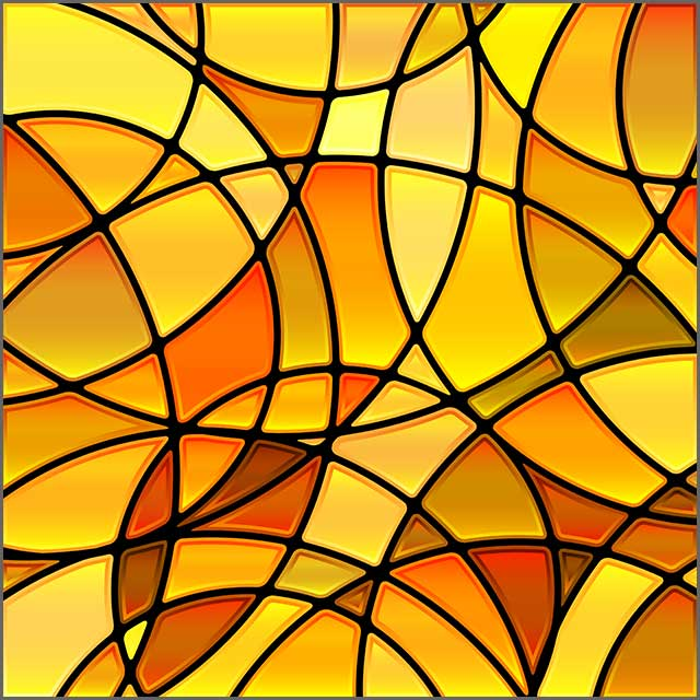 A picture of an abstract vector stained-glass tile