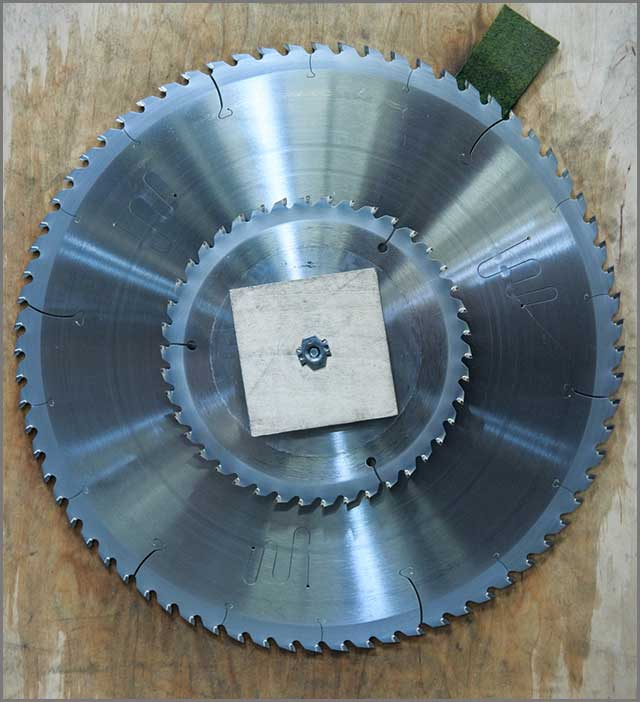 a precision finishing circular saw blade with about 80 teeth.