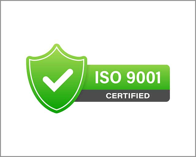Example of an ISO certification