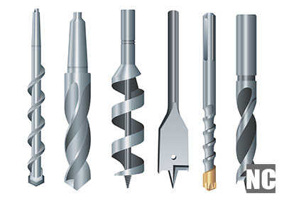 Multiple types of drill bits