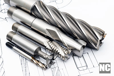 Professional multi-flute cutting drills for metal works.