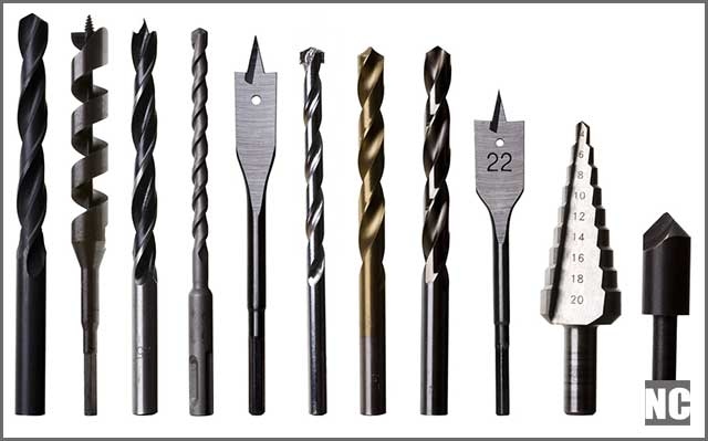 Various drill types and sizes