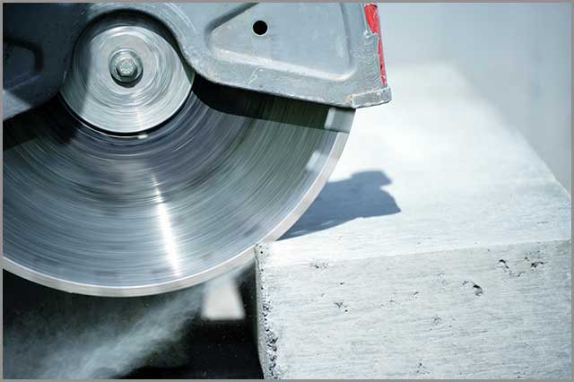 Image of properly cut concrete.