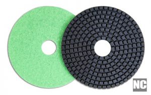 Polishing pads for diamond, stone, granite, and other masonry work