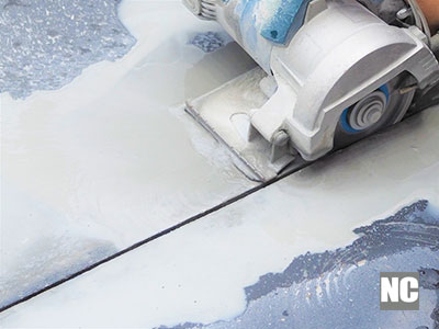Cutting marble tile