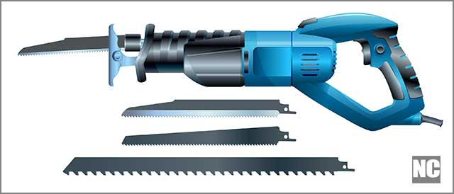 Vector image of reciprocating saw blades