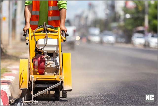 Diamond Road Saw makes road work a breeze and is easy to maneuver.