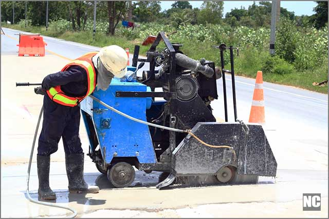 diamond blade road saw Cutting into roads is quick and painless with the diamond blade saw