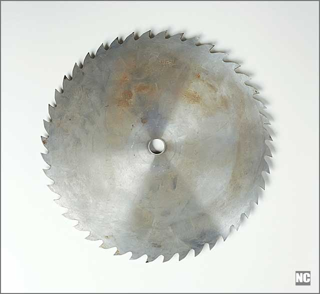 Image of a rusty cold saw blade