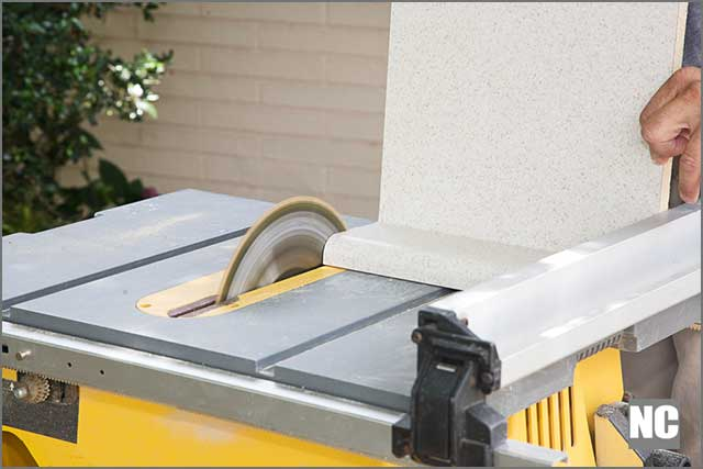 Table saw ready to use
