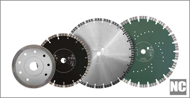 Set of Asphalt Cutting Blade showing speed specification indicated.