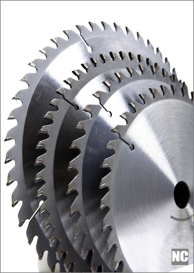 TCT saw blades of different sizes