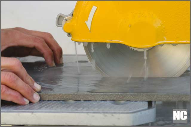 Wet saws make cutting more comfortable and faster