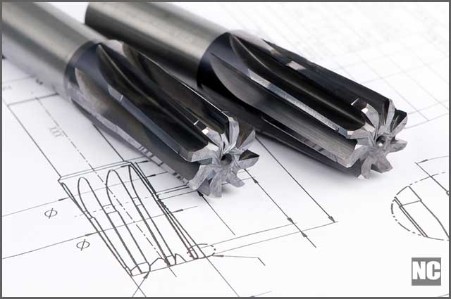 Professional cutting tools used for metalwork