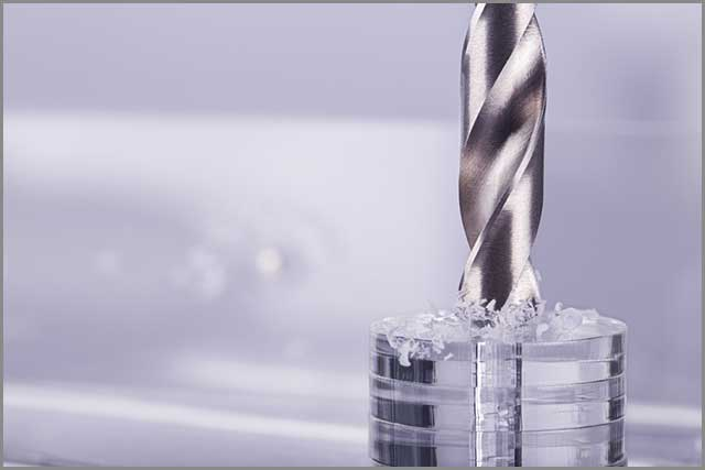 glass drill bits drilling an opaque glass