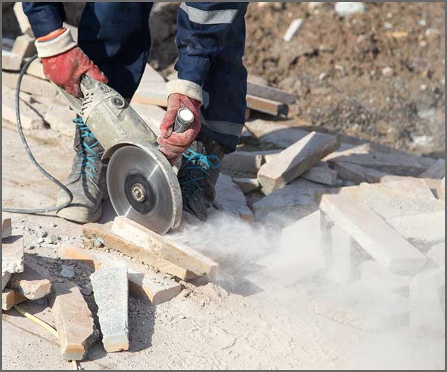 Circular saw used for cutting concrete