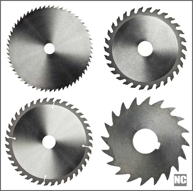 Circular saw blades for woodwork