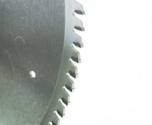 A circular saw blade with carbide tip