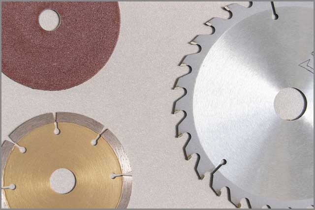 Use a serrated circular saw blades for wood