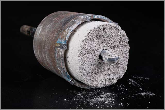 A large core bore for drilling large holes in concrete.