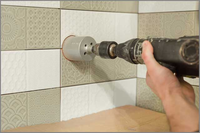 Drilling a tiled wall
