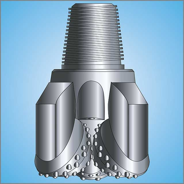 Tungsten carbide drill bits for oil drilling