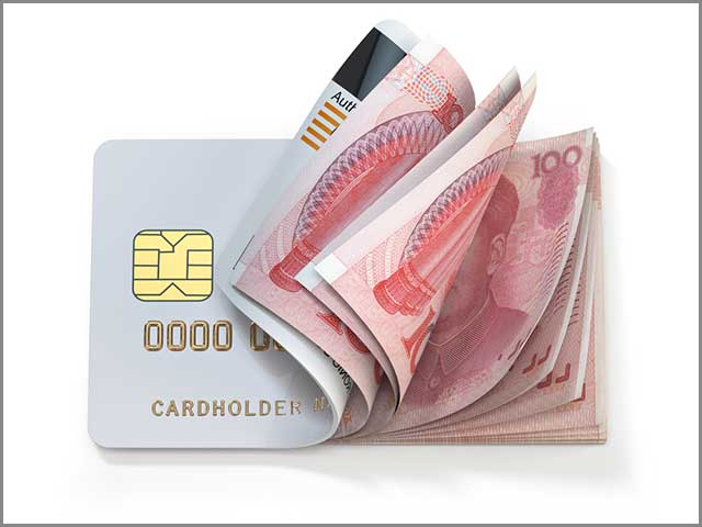 Image showing credit card and cash