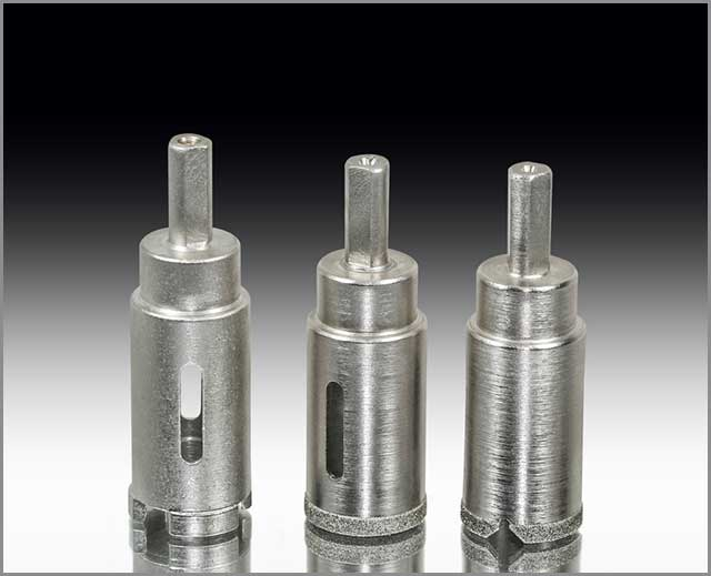 Stainless set of diamond core bit