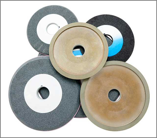 A set of diamond grinding wheels