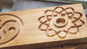 Complex Pattern Shaped by a Wood Router