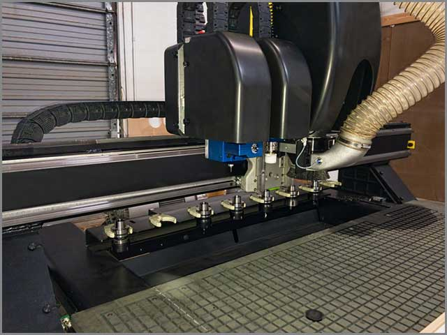 CNC Router with Dust Extractor.