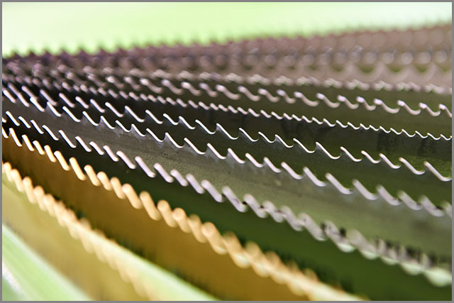 Close-up Image of Bandsaw Blades