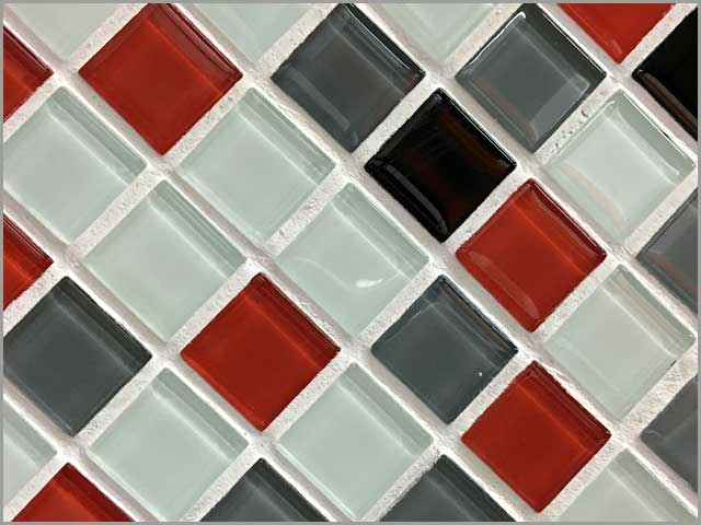 Picture of glass mosaic tile.