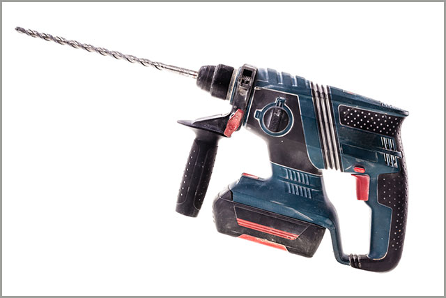 A typical hammer drill.
