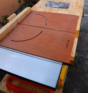 A typical crosscut sled