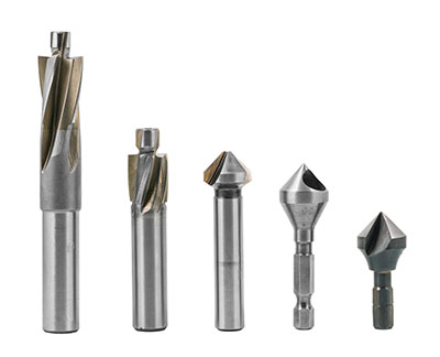 Cross-section of counterboring and countersinking bits