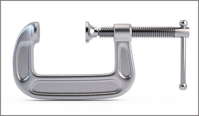 C-Clamp on white background