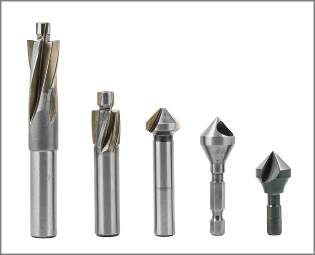 Sets of different drill bits