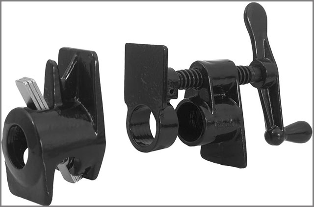 "3/4"" Pipe Clamp Fixture with Wide Base"