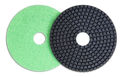 A diamond polishing pad for masonry work.
