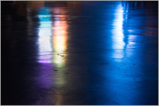Close-up image of a polished concrete floor.