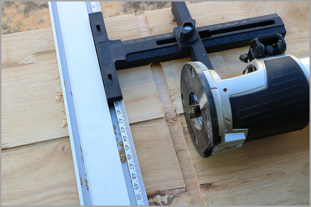 A router cutting a dado.