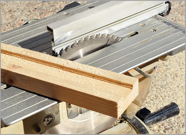 A table saw used for dado cutting.